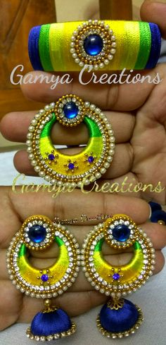 Silkthread jewellery set at Gamya Creations  Visit http://gamyacreations.com/index.php?route=product/category&path=61 for more products and to place order