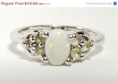 BIG SALE Sterling Silver Opal Tourmaline Vintage by HeirloomSilver, $54.00