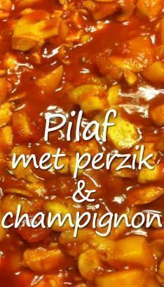 Pilaf-met-perzik-en-champignon in 2020 Crockpot Recipes, Cooking Recipes, Healthy Recipes, Weigt Watchers, Fish And Meat, Dutch Recipes, Catering, Curry, Easy Cooking