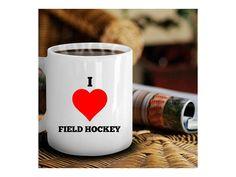 Field Hockey Coffee Mug - I Love Field Hockey - Girls Gifts and Stuff