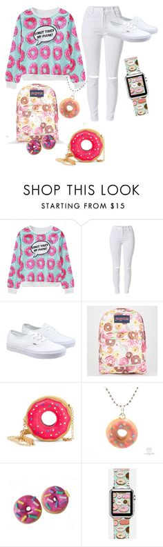 """""""donut touch my phone"""" by lovelyprincess2 ❤ liked on Polyvore featuring moda, WithChic, Vans, JanSport, Betsey Johnson, Casetify, women's clothing, women's fashion, women y female"""