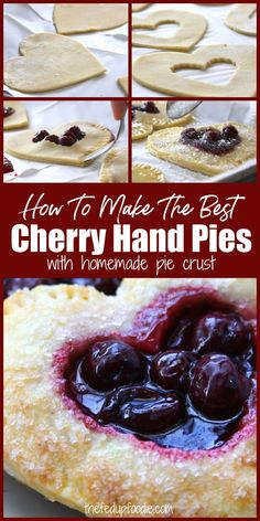 Sweets Recipes, Fruit Recipes, Just Desserts, Real Food Recipes, Delicious Desserts, Yummy Food, Cherry Hand Pies, Filling Recipe, Homemade Pie Crusts