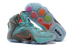 "outlet store b30cf f9460 Nike LeBron 12 ""Miami Dolphins"" Turquoise Grey-Crimson-Black For Sale New  Arrival"