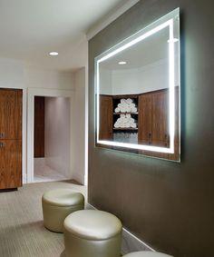 Electric Mirror Bathroom by Best Plumbing Seattle, WA 633 - 1700 Lighted Vanity Mirror, Led Mirror, Mirror Bathroom, Mirror Glass, Design Bathroom, Bathroom Lighting, Mirrors, Exterior Design, Interior And Exterior