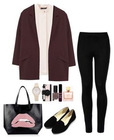 """Untitled #251"" by hewhitman on Polyvore featuring MANGO, Wolford, RED Valentino, Kate Spade, Bobbi Brown Cosmetics and NYX"