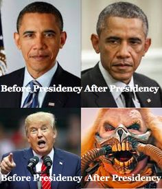 Trump Before and After Being President