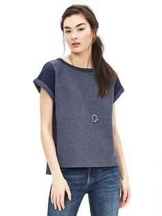 Indigo Cropped Sweatshirt