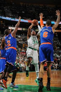 Last Game as a Celtic: Extricating his body... (May 3, 2013 | Eastern Conference Quarterfinals | Game 6 | New York Knicks @ Boston Celtics | TD Garden in Boston, Massachusetts)