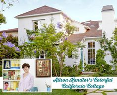 Designer Alison Kandler's Colorful California Cottage | hookedonhouses.net
