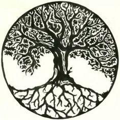 Celtic Tree of Life. - Celtic Tree of Life. Tattoo Life, I Tattoo, Tree Of Life Tattoos, Celtic Tree Tattoos, House Tattoo, Roots Tattoo, Tree Tattoo Designs, Tattoo Design Drawings, Arte Bob Marley
