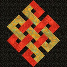 Eternity Knot Paper Pieced Quilt Block Pattern for sale