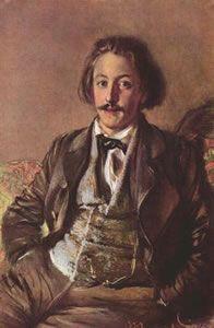 Paul Heyse (15 maart 1830 - 2 april 1914) - Portret door Adolf von Menzel, 1853