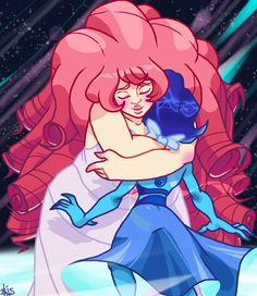AU space mom hugs for lonely ocean child.