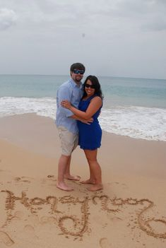 honeymoon pic!...or engagement pictures on the beach? Or wedding Day with the date written in the sand.