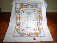 1948 Isreal Vintage Tablecloth by FineVintageLinens, $79.00