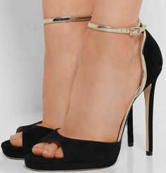 Jimmy Choo 'Pearl' Leather-Trimmed Sandals