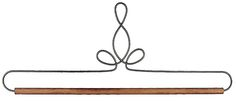 12in Powder Coated Heirloom Hanger - These hangers are made of brite steel and powder coated for durability. Place them outside or indoors to add decoration to any wall.