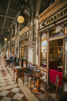 Cafe Florian (world's oldest cafe), Venice, Italy