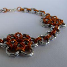 Japonské kytičky - oranžovo stříbrný náramek 89 Kč Chain, Bracelets, Jewelry, Fashion, Moda, Jewlery, Jewerly, Fashion Styles, Necklaces