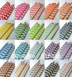 100pcs Your Choice of Color Paper Straws for party favor Wholesale & Retial & Drop shipping-in Event & Party Supplies from Home & Garden on Aliexpress.com
