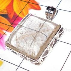 LARGE CHUNKY STYLE CLOSE OUT PENDANTS 925 SILVER gram Gold Rutile  By Shaurya International