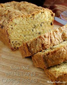 Honey Walnut and Carrot Bread Recipe- low sugar!
