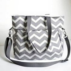 Check out this item in my Etsy shop https://www.etsy.com/listing/230191405/medium-diaper-bag-in-gray-chevron-print