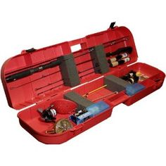 MTM's Ice Fishing Rod Box holds up to eight rods and has space for your tackle and tip ups. Four compartments hold your other fishing accessories. Fishing Rod Case, Ice Fishing Rods, Fishing Rod Storage, Fishing Tackle Box, Fishing Reels, Fishing Tips, Fishing Stuff, Fisher