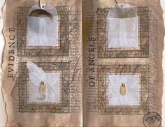 altered book with envelopes for secret treasures