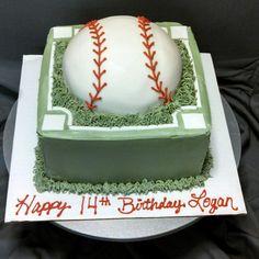 Baseball birthday cake by Alicia @ Phat N Sassy Sweets
