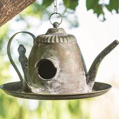 Hanging Teapot Bird Feeder