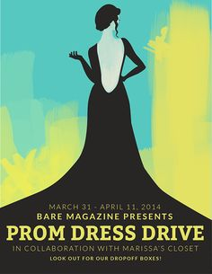 BARE Prom Dress Drive Flyer on Behance
