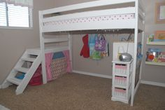 loft bed - DIY LOFT BED FOR LESS THAN $100