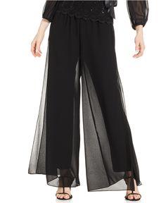 0e99ce6f2e928a Alex Evenings Wide-Leg Chiffon Pants - Pants & Capris - Women - Macy's