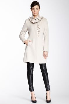 Elie Tahari Sara Wool Blend Coat