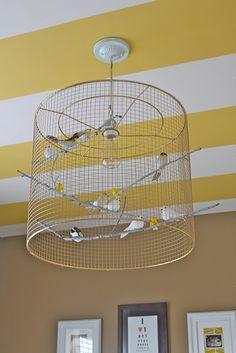 A UTILISER cage a oiseaux + oiseaux balsa A FAIRE une lampe
