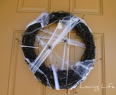 Spider web wreath I made.