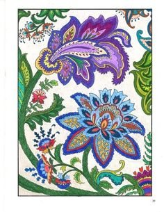 From our Paisley Designs coloring book Dover Coloring Books… Paisley Art, Paisley Design, Paisley Pattern, Arte Mehndi, Jacobean Embroidery, Colouring Techniques, Motif Floral, Art Graphique, Coloring Book Pages