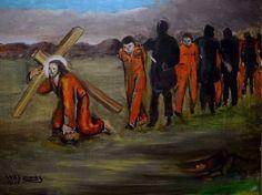 7ª Estação:Jesus recebe a cruz