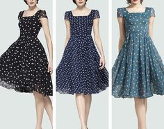 Spring summer chiffon long dress lady women clothing by jadeok, $75.00