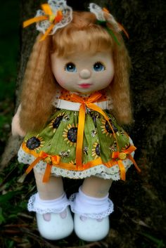 My Child Doll --- Aussie Girl With Strawberry Blonde Crimp Hair Doll Clothes Patterns, Doll Patterns, Crimp Hair, Doll Toys, Baby Dolls, My Child Doll, Love My Kids, Strawberry Blonde, Childhood Toys
