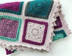 Learn To Crochet, Easy Crochet, Crochet Designs, Crochet Patterns, Square Patterns, Free Pattern, Plaid, Knitting, Blog