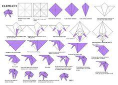 Origami éléphant ! … Plus