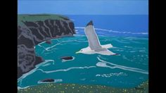 JUST TWO MINUTES -The most recent ART of Eamon Reilly A Sea, I Wish, Whale, Gull, Deviantart, Canvas, Artist, Animals, House