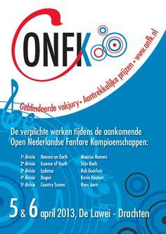 Iepen Nederlânske Fanfare Kampioenskippen 5 & 6 april 2013