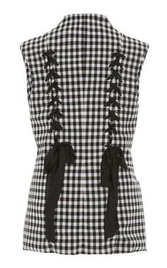 Tailored Gingham Vest by TOME for Preorder on Moda Operandi