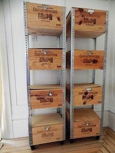 Ideas For Vintage Crate Diy Shelves Ideas For Vintage Crate Diy Ideas For Vintage Crate Diy Shelves Wine Box Shelves, Crate Shelves, Crate Storage, Pallet Shelves, Record Storage, Storage Bins, Glass Shelves, Metal Shelves, Shelf Brackets