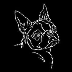 Womans T Shirt Boston Terrier Sparkling Rhinestone 4 X 6 Inches Graphic Rhinestone Shirts, Bling Shirts, Rhinestone Crafts, String Art Patterns, Bead Patterns, Dot Art Painting, Painting Patterns, Boston Terrier Dog, Colorful Shirts