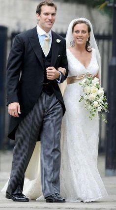 Alice Haddon Paton Wed Nicholas Van Cutsem On 14 August The Bride Wore A Pee Diamond Tiara Gill Davies Weddings Morning Dress