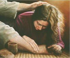 Maria Unge os pés de Jesus e enxuga com os seus cabelos (O Dom do Amor demonstrado em três atos)